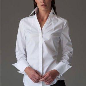 Thomas pink white shirt with pattern  details